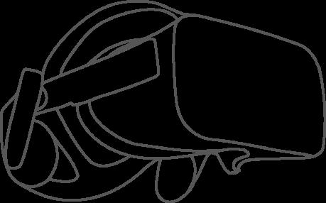 Pictogramme casque de réalité virtuelle - 3D - VR Solutions ©